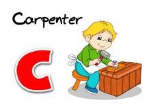 Trabajadores del alfabeto - carpintero Fotografía de archivo