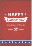 Trabajadores del día en América Imágenes de archivo libres de regalías