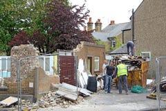 Trabajadores del equipo de la demolición Imagenes de archivo
