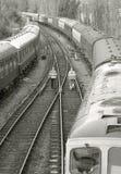Trabajadores del ferrocarril Imágenes de archivo libres de regalías