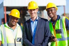 Trabajadores del hombre de negocios de la construcción foto de archivo libre de regalías
