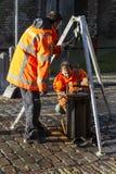 Trabajadores del mantenimiento Foto de archivo libre de regalías