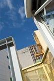 Trabajadores en el edificio alto Fotografía de archivo libre de regalías