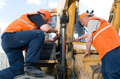 Trabajadores en el trabajo Foto de archivo