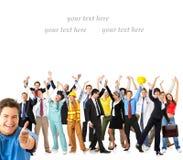 Trabajadores felices foto de archivo libre de regalías