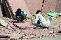 Trabajadores indios Foto de archivo libre de regalías