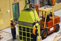 Trabajadores industriales Foto de archivo libre de regalías