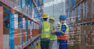 Trabajadores 4k de Warehouse metrajes
