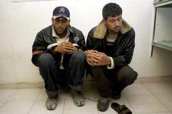 Trabajadores palestinos ilegales en Israel Foto de archivo