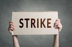 Trabajadores que van en huelga Imagen de archivo
