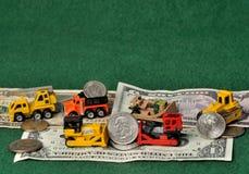 Trabajando con usted el dinero Imagen de archivo libre de regalías