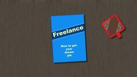 Trabaje independientemente - cómo conseguir su trabajo ideal Imagen de archivo libre de regalías