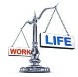 Trabaje la balanza de la vida Foto de archivo