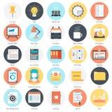 Trabaje las herramientas y el tema del negocio, estilo plano, colorido, icono Imagen de archivo