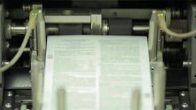 Trabaje a máquina el trabajo en casa de impresión, industria del polígrafo - equipo de la limpieza, vista delantera Equipo especi metrajes