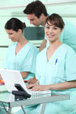 Trabajo administrativo en hospital Imágenes de archivo libres de regalías