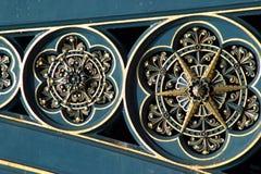 Trabajo adornado del metal del puente Imagen de archivo