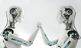 Trabajo androide del equipo de los hombres del robot