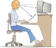 Trabajo apropiado sobre el ordenador stock de ilustración