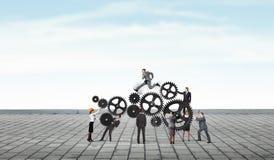 Trabajo como un mecanismo Técnicas mixtas Fotografía de archivo
