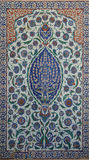 Trabajo complejo de la teja de mosaico de Iznik Fotografía de archivo libre de regalías
