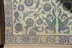 Trabajo complejo de la teja de mosaico de Iznik Imagen de archivo