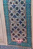 Trabajo complejo de la teja de mosaico de Iznik imagenes de archivo