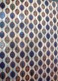 Trabajo complejo de la teja de mosaico de Iznik imágenes de archivo libres de regalías