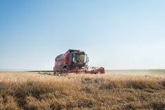 Trabajo cosechando la cosechadora Imagen de archivo