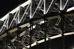 Trabajo de acero sobre el puente de puerto de Sydney Fotografía de archivo libre de regalías