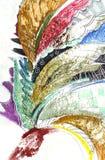 Trabajo de arte abstracto Imágenes de archivo libres de regalías