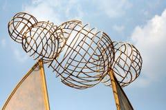 Trabajo de arte hecho fuera de piezas del hierro y de metal de pedazo Fotografía de archivo libre de regalías