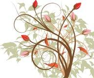Trabajo de arte multicolor del diseño floral Imagenes de archivo