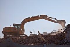 Trabajo de demolición Foto de archivo