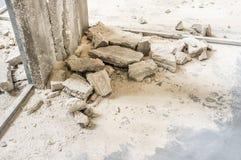 Trabajo de demolición - reconstrucción Imagenes de archivo