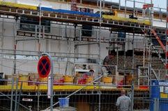 TRABAJO DE LA CONSTRUCCI?N EN COPENHAGUE DINAMARCA imágenes de archivo libres de regalías