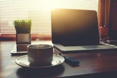 Trabajo de la distancia del negocio electrónico vía Internet Imagen de archivo