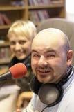 Trabajo de la estación de radiodifusión Imágenes de archivo libres de regalías