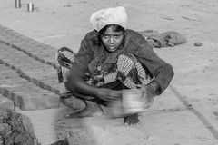 Trabajo de la hembra, la India Fotografía de archivo libre de regalías
