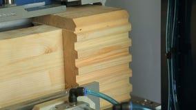 Trabajo de la máquina de la carpintería en la empresa de la carpintería metrajes