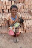 Trabajo de la mujer en la India Foto de archivo