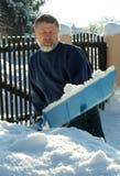 Trabajo de la nieve Imágenes de archivo libres de regalías