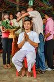 Trabajo de la ordenación en Tailandia Foto de archivo