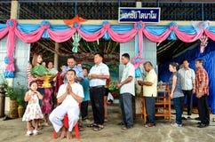 Trabajo de la ordenación en Tailandia Imagenes de archivo