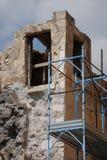 Trabajo de la restauración en Lecce Fotos de archivo