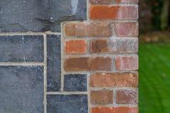 Trabajo de ladrillo y trabajo de la piedra Foto de archivo libre de regalías