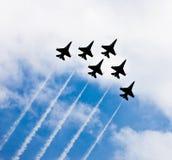 Trabajo de las personas en el cielo Imagen de archivo libre de regalías