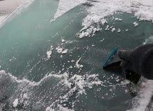 Trabajo de los conductores del invierno Imagen de archivo libre de regalías