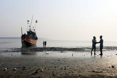 Trabajo de los pescadores Foto de archivo