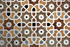 Trabajo de mármol del embutido en el bebé Taj Fotos de archivo libres de regalías